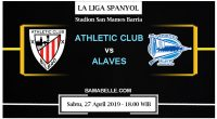 Prediksi Bola Jitu Athletic Club Vs Deportivo Alaves 27 April 2019