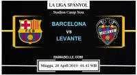 Prediksi Bola Jitu Barcelona Vs Levante 28 April 2019