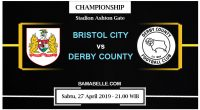 Prediksi Bola Jitu Bristol City Vs Derby County 27 April 2019