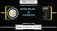 Prediksi Bola Jitu Inter Milan Vs Juventus 28 April 2019