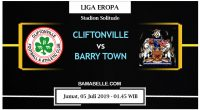 Prediksi Bola Jitu Cliftonville Vs Barry Town United 05 Juli 2019