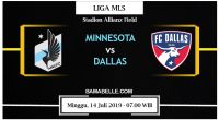 Prediksi Bola Jitu Minnesota United Vs Dallas 14 Juli 2019