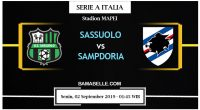 Prediksi Bola Jitu Sassuolo Vs Sampdoria 02 September 2019