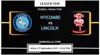 Prediksi Bola Jitu Wycombe Wanderers Vs Lincoln City 07 September 2019