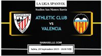 Prediksi Bola Jitu Athletic Club vs Valencia 28 September 2019
