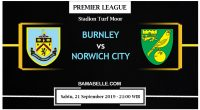 Prediksi Bola Jitu Burnley vs Norwich City 21 September 2019