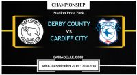 Prediksi Bola Jitu Derby County Vs Cardiff City 14 September 2019