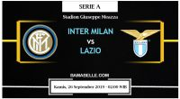 Prediksi Bola Jitu Inter Milan Vs Lazio 26 September 2019