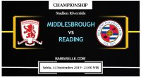 Prediksi Bola Jitu Middlesbrough Vs Reading 14 September 2019