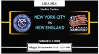 Prediksi Bola Jitu New York City Vs New England 08 September 2019