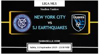 Prediksi Bola Jitu New York City Vs SJ Earthquakes 14 September 2019