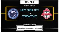 Prediksi Bola Jitu New York City Vs Toronto FC 12 September 2019