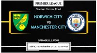 Prediksi Bola Jitu Norwich City Vs Manchester City 14 September 2019