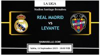 Prediksi Bola Jitu Real Madrid vs Levante 14 September 2019
