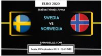 Prediksi Bola Jitu Swedia Vs Norwegia 09 September 2019
