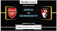 Prediksi Bola Jitu Arsenal vs AFC Bournemouth 06 Oktober 2019