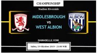 Prediksi Bola Jitu Middlesbrough vs West Bromwich Albion 19 Oktober 2019
